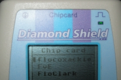 Diamond-Shield-Zapper-Chipkarten-Menü