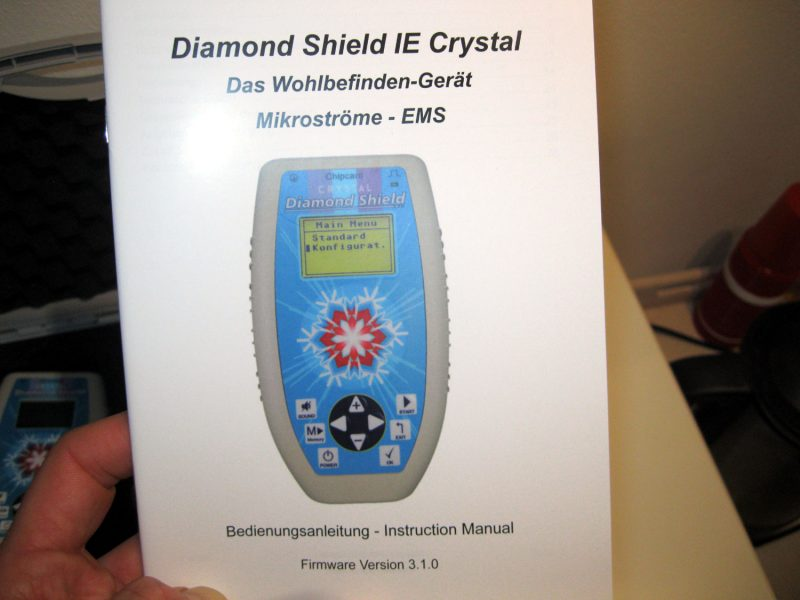 Diamond-Shield-Zapper-IE-Crystal-Bedienungsanleitung